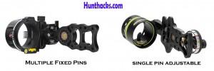Multiple fixed pins vs Single adjustable