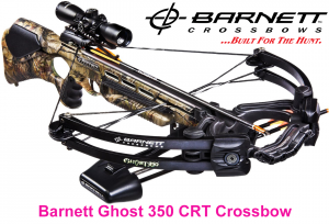 Barnett Ghost 350 CRT Crossbow Package Quiver, 3 - 20-Inch Arrows and Illuminated 3x32mm Scope