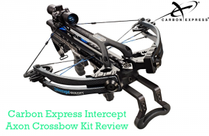 Carbon Express Intercept Axon Crossbow Kit (Rope Cocker, 3 Arrow Quiver, 3 Crossbolts, Rail Lubricant, 3 Practice Points, 4x32 Glass-Etched Reticle Lighted Scope)