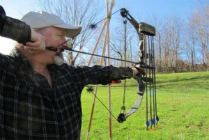 Shoot compound bow after changing draw weight