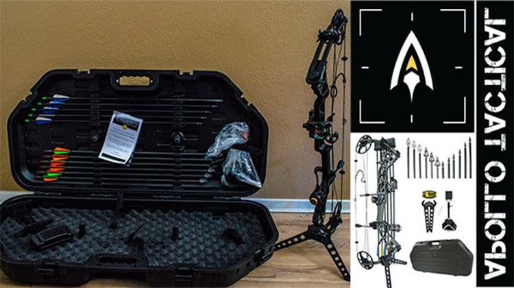 Tactical Compound Bow Package CNC MILLED ALUMINUM - Shadow Matte Black