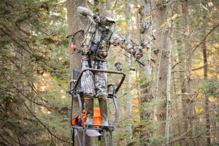 Bowhunting from a Treestand