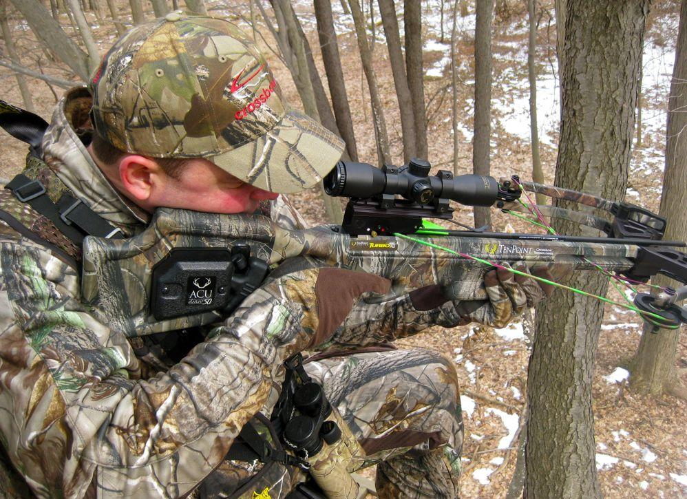 Practice crossbow hunting
